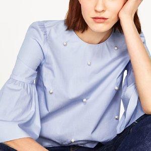 Zara Tops - Zara | Pearl Blouse